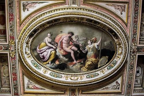 Willa Medici, casino - Sala delle Muse, fresk Jacopo Zucchiego