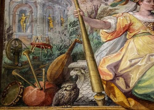 Villa Medici, casino - Sala delle Muse, fresco by Jacopo Zucchi, fragment