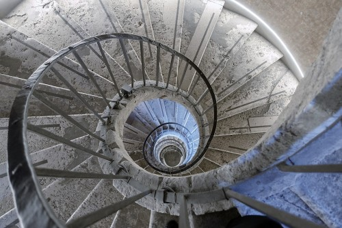 Villa Medici, one of the two original staircases leading to the representative rooms of the then casino