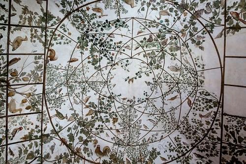 Willa Medici, pawilon Ptaków, imitacja woliery, Jacopo Zucchi
