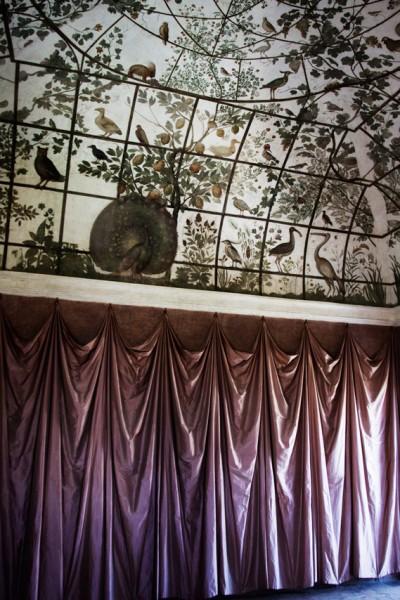 Willa Medici, pawilon Ptaków kardynała Ferdynanda de Medici, dekoracje Jacopo Zucchiego, (imitacja woliery)