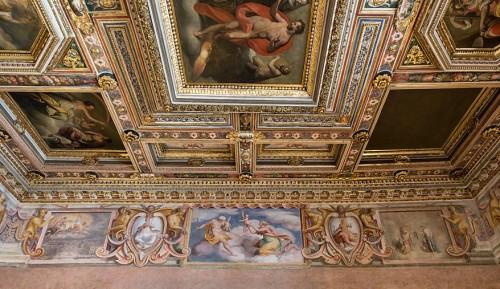 Willa Medici, Sala degli Elementi, freski Jacopo Zucchiego