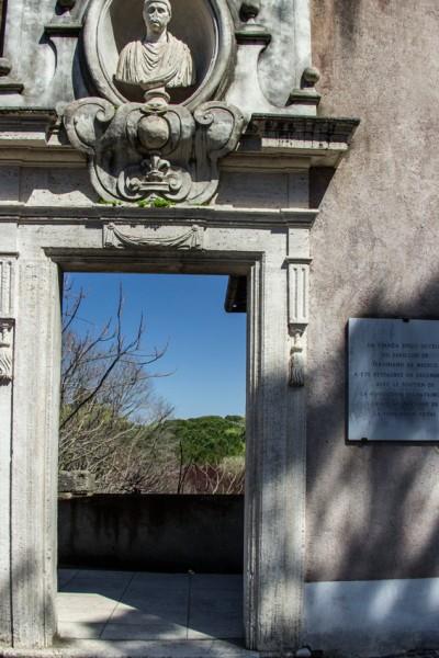 Willa Medici, wejście do pawilonu ogrordowego kardynała Ferdinanda de Medici