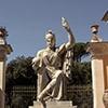 Dea Roma (goddess – protector of the city) in the garden of the Villa Medici