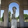 Ogrody willi Medici, loggia Kleopatry