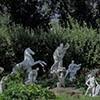 Gardens of the Villa Medici, Niobe and her children, copies made in the XX century