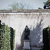 Gardens of the Villa Medici, statue of J.B. Colbert, founder of the French Academy in Rome
