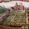 Willa Medici, studiolo kardynała Ferdynanda de Medici, dekoracje Jacopo Zucchiego, widok casino od strony ogrodowej