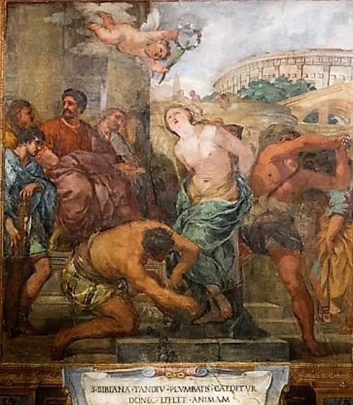 Biczowanie św. Bibiany, kościół Santa Bibiana, Pietro da Cortona