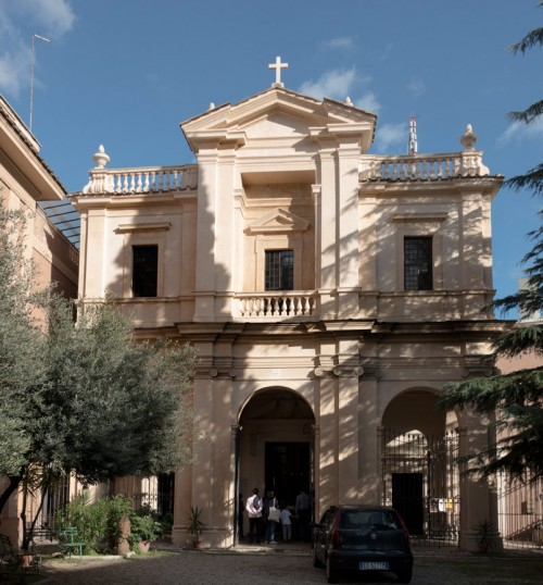 The facade of the church of Santa Bibiana