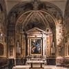 Awentyn, kościół Santa Prisca, widok absydy i ołtarza głównego