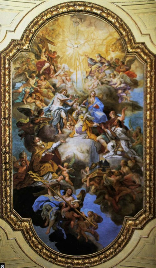 Apoteoza św. Cecylii, Sebastiano Conca, fresk sklepienia bazyliki Santa Cecilia