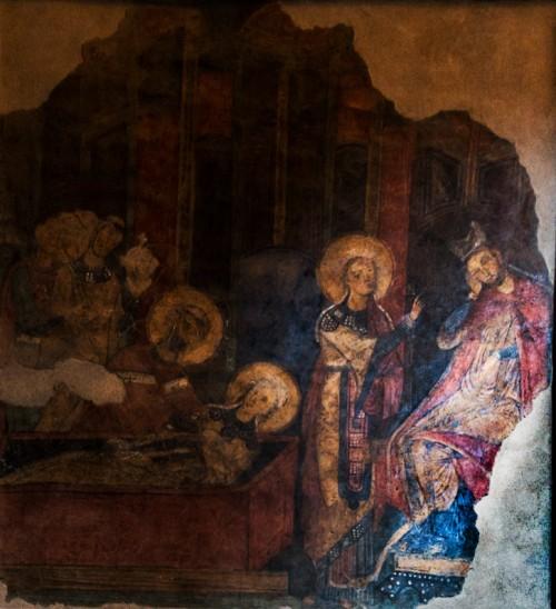 Bazylika Santa Cecilia, fresk ukazujący cudowne odnalezienie szczątków św. Cecylii, XIII w.