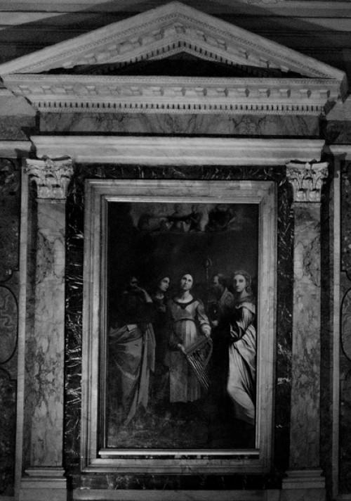 Kaplica św. Cecylii, św. Cecylia w towarzystwie świętych, kopia obrazu Rafaela, kościół San Luigi dei Francesi