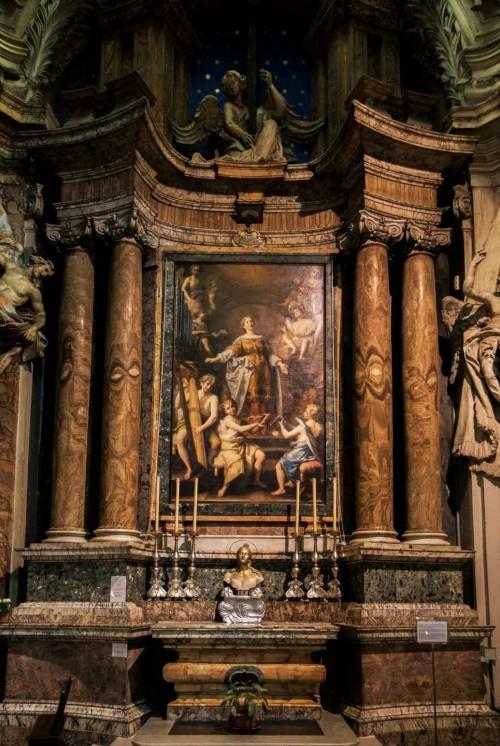 Altar of St. Cecilia, Antonio Gherardi, Church of San Carlo ai Catinari