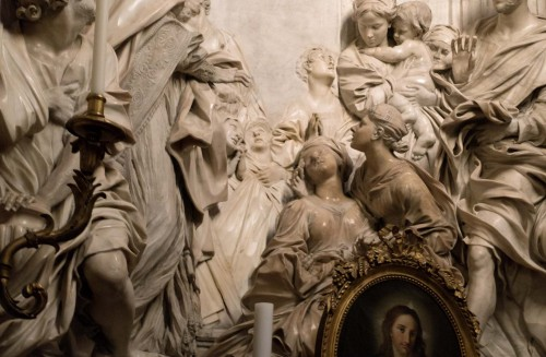 The Death of St. Cecilia, fragment, Antonio Raggi, Church of Sant'Agnese in Agone