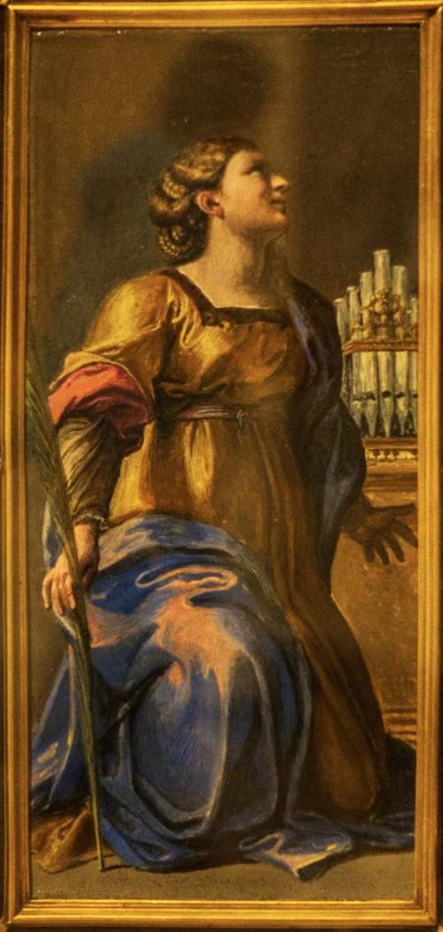 Św. Cecylia, fragment, Annibale Carracci, Galleria Nazionale d'Arte Antica, Palazzo Barberini