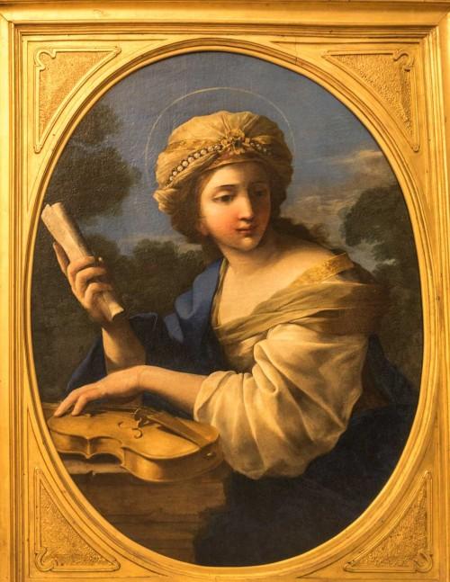 Św. Cecylia, Giovanni F. Romanelli, XVII w., Musei Capitolini - Pinacoteca Capitolina