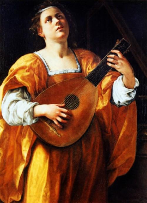 St. Cecilia Playing a Lute, Artemisia Gentileschi, Galleria Spada, pic. Wikipedia