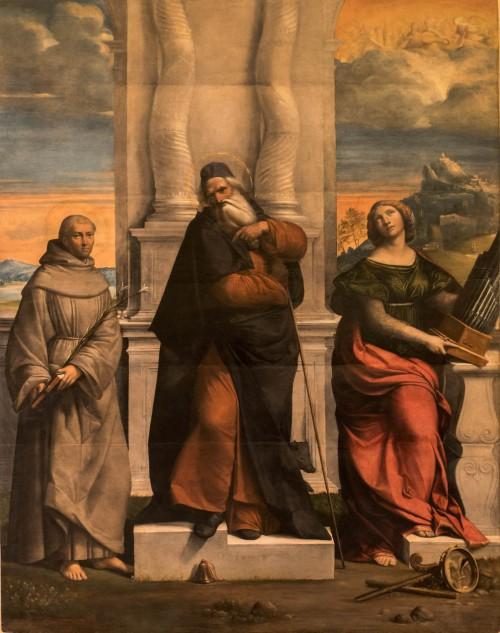 Św. Cecylia (po prawej), Garofalo, Galleria Nazionale d'Arte Antica, Palazzo Barberini
