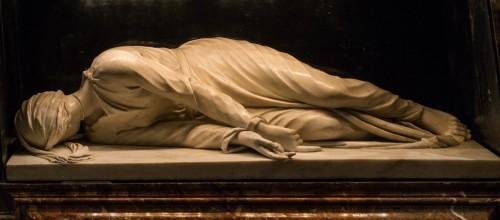 St. Cecilia, Stefano Maderno, 1596, sculpture in the altar of the Basilica of Santa Cecilia