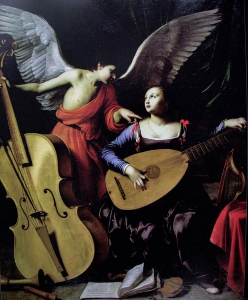 Św. Cecylia z aniołem, Carlo Saraceni, Galleria Nazionale d'Arte Antica, Palazzo Barberini