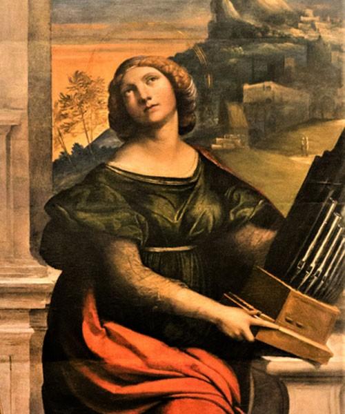 Święta Cecylia, fragment, Garofalo, Galleria Nazionale d'Arte Antica, Palazzo Barberini