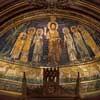 Apse mosaics from the IX century, Basilica of Santa Cecilia