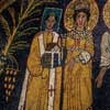 Pope Paschalis I and St. Cecilia, mosaic in the apse, Basilica of Santa Cecilia, fragment