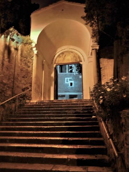 Small Aventine, enterance into the Church of San Saba
