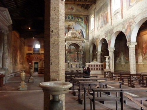 Interior of the Basilica of Santi Nereo e Achilleo