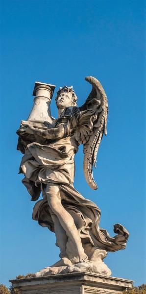 Bridge of the Holy Angel (Ponte Sant'Angelo), Angel with the Column, Antonio Raggi