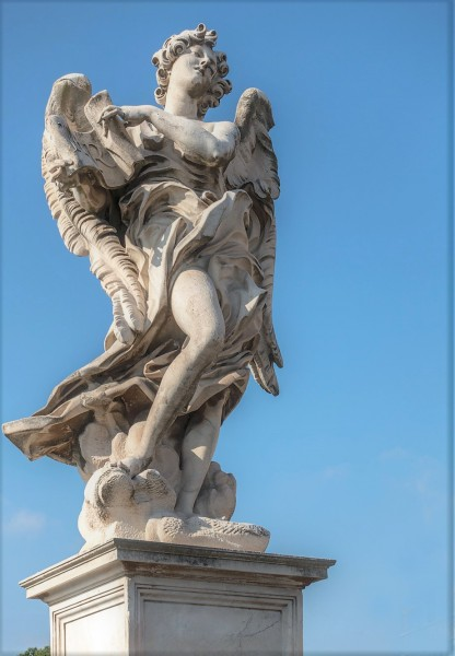 Bridge of the Holy Angel (Ponte Sant'Angelo), Angel with the Superscription, Giulio Cartari