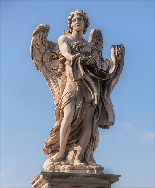Bridge of the Holy Angel (Ponte Sant'Angelo), Angel with the Garment and Dice, Paolo Naldini
