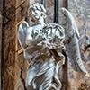 Anioł z koroną cierniową, Gian Lorenzo Bernini, kościół Sant'Andrea delle Fratte