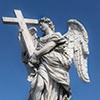 Ponte Sant'Angelo, Anioł z krzyżem, Ercole Ferrata