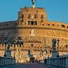 Ponte Sant'Angelo - most św. Anioła z widokiem na zamek św. Anioła