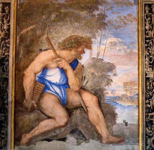 Polyphemus, villa Farnesina - Loggia di Galatea