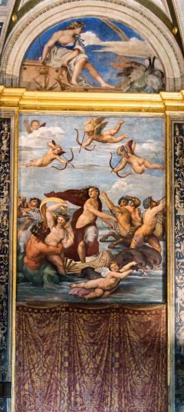 Triumph of Galatea, fresco, villa Farnesina, 1512, Raphael