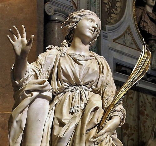 Posąg św. Bibiany, fragment, kościół Santa Bibiana, Gian Lorenzo Bernini