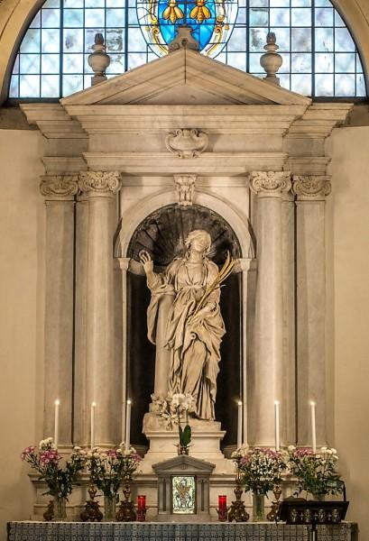 Kościół Santa Bibiana, figura św. Bibiany, Gian Lorenzo Bernini
