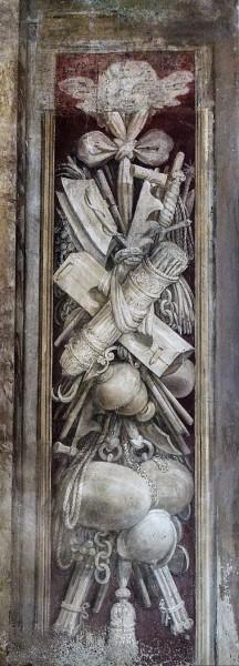 Church of Santa Bibiana, frescoes in the entrance to the church, Agostino Ciampelli