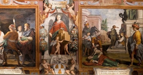 Series of paintings devoted to the martyrdom of St. Bibiana, the Church of Santa Bibiana