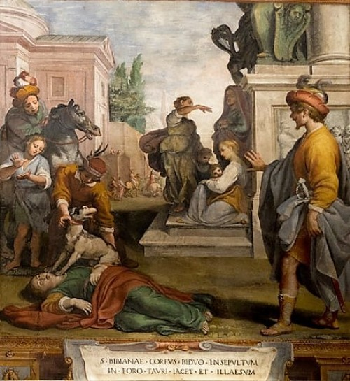 Church of Santa Bibiana, Body of St. Bibiana left for the dogs to devour, Agostino Ciampelli