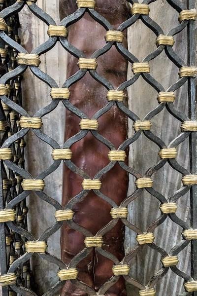 Column of St. Bibiana – legendary instrument of the torture of the martyr, Church of Santa Bibiana