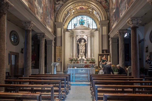 Church of Santa Bibiana with a statue of St. Bibiana in the apse
