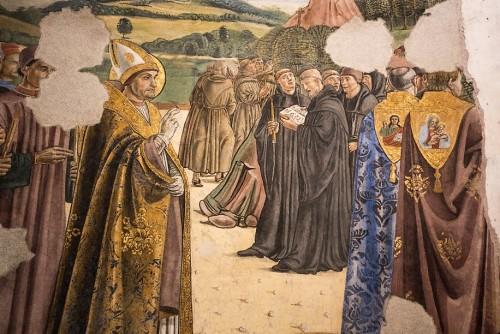 Antoniazzo Romano, freski w kaplicy kardynała Bessariona, bazylika Santi XII Apostoli