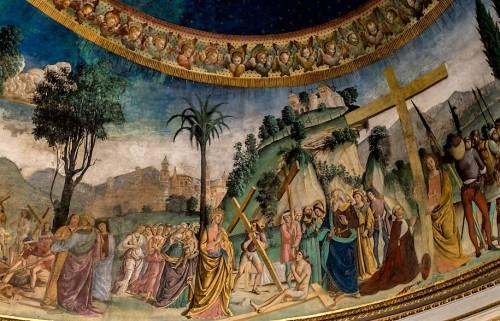Antoniazzo Romano, Legenda św. Krzyża, freski w absydzie bazyliki Santa Croce in Gerusalemme, fragment