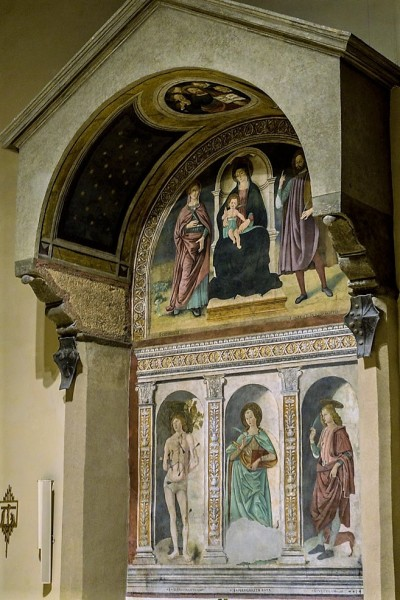 Antoniazzo Romano, Madonna Enthroned with the Infant Christ and Saint, Church of Santi Vito e Modesto