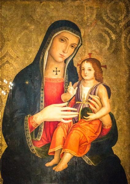 Antoniazzo Romano, Madonna z Dzieciątkiem, bazylika Santi XII Apostoli